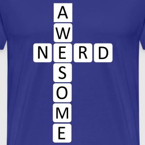 Awesome Nerd Design T-Shirts - Men's Premium T-Shirt
