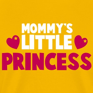 Mommy's little princess with cute love hearts T-Shirts - Men's Premium T-Shirt