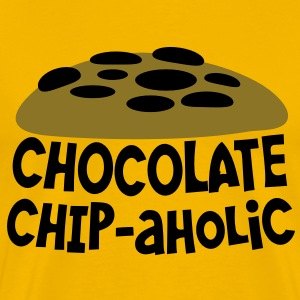 chocolate chipaholic (with choccy chip cookie) T-Shirts - Men's Premium T-Shirt