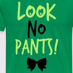 LOOK NO PANTS! with a black bow T-Shirts - Men's Premium T-Shirt