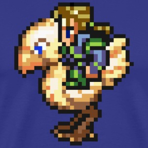 Final Fantasy III/VI - Edgar Chocobo T-Shirts - Men's Premium T-Shirt