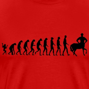 Really Funny Joke Centaur Evolution Man Graphic Design Vector T-Shirts - Men's Premium T-Shirt