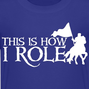 this is how i role - medieval knight on a horse Kids' Shirts - Kids' Premium T-Shirt