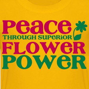 PEACE through superior flower power Kids' Shirts - Kids' Premium T-Shirt