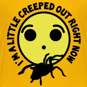 I'm a little CREEPED our right now.. spider tarantula with a weird smiley shocked Kids' Shirts - Kids' Premium T-Shirt