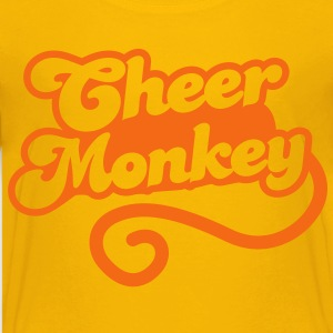 cheer monkey with a tail  (Cheerleader shirt design) Kids' Shirts - Kids' Premium T-Shirt