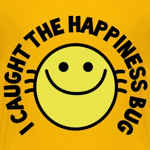 I CAUGHT THE HAPPINESS bug! with cute buggy smiley! Kids' Shirts - Kids' Premium T-Shirt