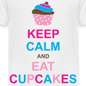 Keep Calm and Eat Cupcakes Toddler Shirts - Toddler Premium T-Shirt