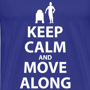 Keep calm and move along - Men's Premium T-Shirt