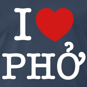 I Heart (Love) Pho - Men's Premium T-Shirt