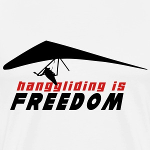 HG HANGGLIDING IS FREEDOM T-Shirts - Men's Premium T-Shirt