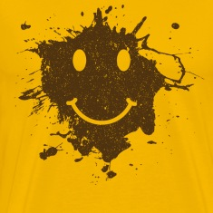 Mud Smiley Face Tee