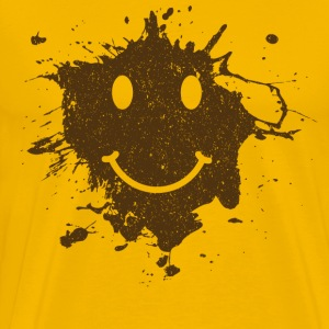 Mud Smiley Face Tee - Men's Premium T-Shirt