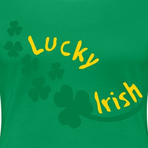 Lucky Irish txt shamrock st.patty's day Women's Plus Size Basic T-Shirt - Women's Premium T-Shirt