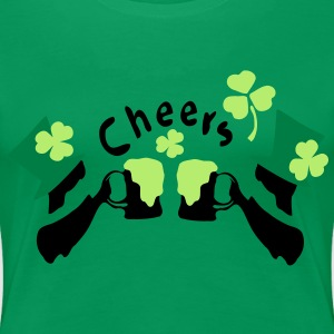 Cheers green beer Irish boys Women's Plus Size Basic T-Shirt - Women's Premium T-Shirt