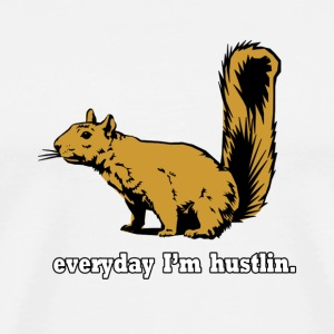 Hustlin Squirrel T-Shirts - Men's Premium T-Shirt