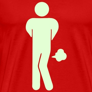 Funny Farting Restrooms / Toilet Sign / Glow in the Dark - Men's Premium T-Shirt