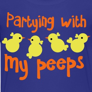 PARTYING with my peeps little chickens for easter funny design Kids' Shirts - Kids' Premium T-Shirt
