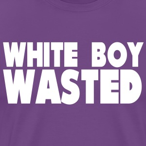 White Boy Wasted T-Shirts - Men's Premium T-Shirt