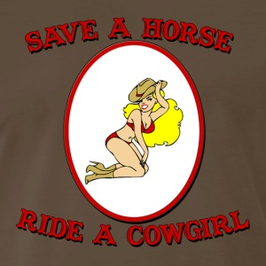 Ride a Cowgirl T-Shirt - Men's Premium T-Shirt