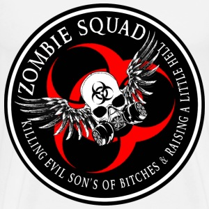 Zombie Squad 3 Ring Patch Revised T-Shirts - Men's Premium T-Shirt
