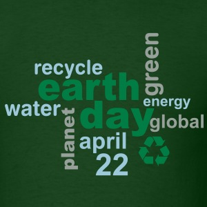 Earth Day Words - Men's T-Shirt