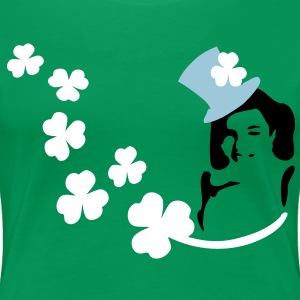 Shamrock Irish girl st.patrick's day Women's Plus Size Basic T-Shirt - Women's Premium T-Shirt