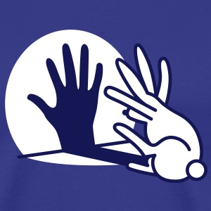 hand shadow rabbit T-Shirts - Men's Premium T-Shirt