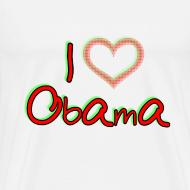 Design ~ I Love OBAMA Mens Shirt