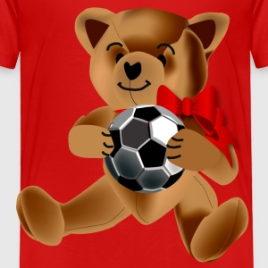 Soccer Teddy Bear - Toddler Premium T-Shirt
