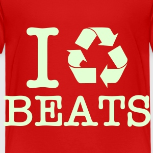 I Recycle Beats / Glow in the Dark Toddler Shirts - Toddler Premium T-Shirt