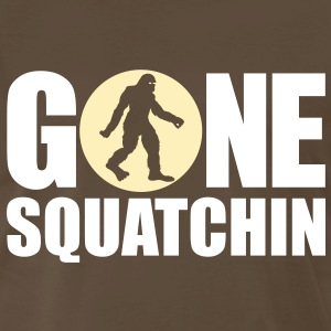 Gone Squatchin' Spotlight (White & Tan) - Men's - Men's Premium T-Shirt