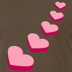 perspective_hearts_2c T-Shirts - Men's Premium T-Shirt