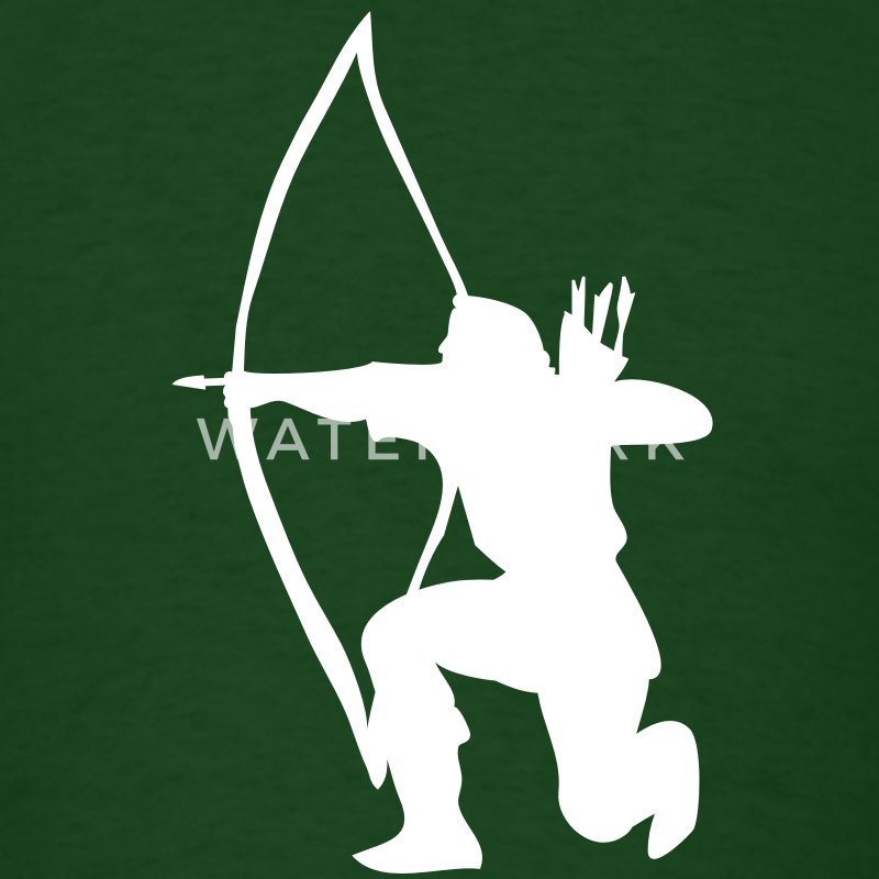 longbow english archer medieval symbol T-Shirts - Men's T-Shirt