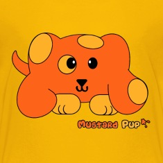 Mustard Pup Pudgie Pet - Designs by Melody Kids' Shirts