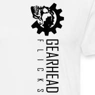 Design ~ Gearhead Flicks logo sideways - Gearhead Flicks Text on Back