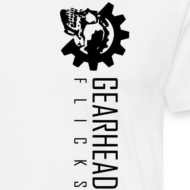 Gearhead Flicks logo sideways - Gearhead Flicks Text on Back