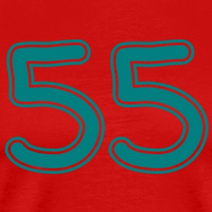 number_fiftyfive_1c T-Shirts - Men's Premium T-Shirt
