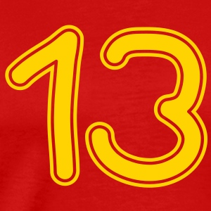 number_thirteen_1c T-Shirts - Men's Premium T-Shirt