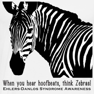 Think Zebras - Ehlers Danlos Awareness - Men's Tee - Men's Premium T-Shirt