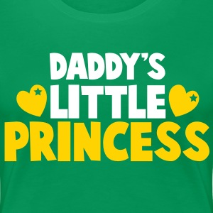 daddy's little princess with love hearts Women's T-Shirts - Women's Premium T-Shirt