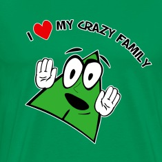 I Love My Crazy Family. TM  Mens Shirt