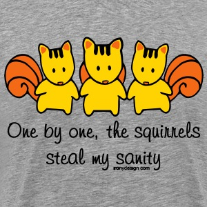 One by one the Squirrels - Men's Premium T-Shirt