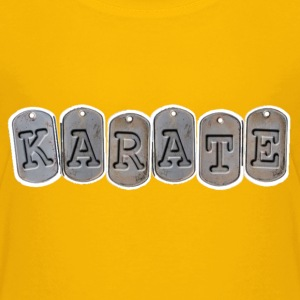 Kids Karate T Shirt with Army dog tag design - Kids' Premium T-Shirt