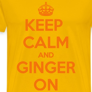 Keep Calm and Ginger On T-Shirts - Men's Premium T-Shirt
