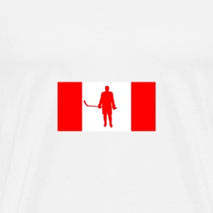 Canada Flag Hockey Player - Men's Premium T-Shirt