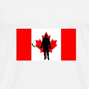 Canada flag hockey player 2 - Men's Premium T-Shirt
