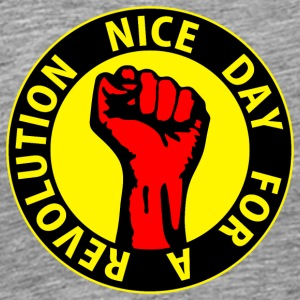 Digital - nice day for a revolution Working Class  T-Shirts - Men's Premium T-Shirt