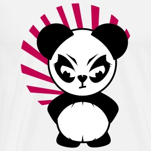 The Little Panda has an angry face T-Shirts - Men's Premium T-Shirt
