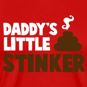 daddy's little stinker with steamy poo T-Shirts - Men's Premium T-Shirt